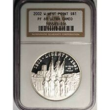 2002 W WEST  POINT PF 69 ULTRA CAMEO BICENTENNIAL SILVER DOLLAR-AA919DHXT