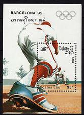 Laos : 1989  Olympic Games Barcelona 92 Minisheet MNH