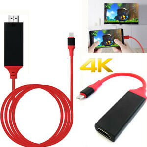 Type C To HDMI TV HDTV Cable Adapter for Samsung Galaxy S20 S10 S9 Note 20 PC