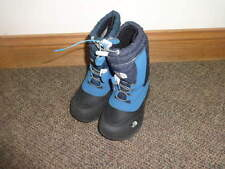 The North Face Boys Sz 10 Blue Black Winter Boots
