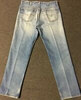 Vtg Levi's 501 Button Fly Jeans 37/32 Faded Distressed Grunge 80s 90s USA Biker