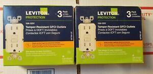 6 pack-15 Amp 125-volt  SmartlockPro Tamper Resistant GFCI Outlet light almond