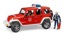 BRUDER® 02528 Jeep Wrangler Unl.Rubicon Feuerwehrfahrzeug mit Feuerwehrmann, NEU