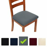 4Pcs Square Removable Elastic Stretch Slipcover Home Dining Chair Seat Cover