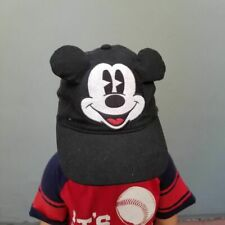 Junk Food Mickey Mouse Ears Disney Cap Youth Black Cotton Twill
