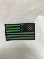 US Reverse American Flag IR Patch Green/Black Night Vision PVS-14 Wilcox Norotos