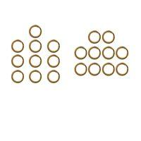 20 pezzi in ottone piatto rotondo split anelli portachiavi portachiavi loop