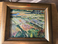 Small Painting By Unknown Artist Seems to be an oil painting