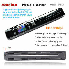 SN910 Handheld Portable scanner Zero margin Book Page Scan HD 1050DPI Handy Scan