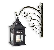 Wandhalter Wandhalterung Metall mit Laterne / Windlicht schwarz