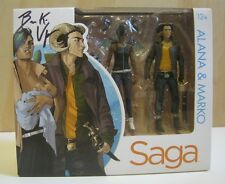 Saga Alana and Marko 1st action figures box set signed by Brian K. Vaughan