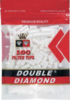 Double Diamond 18MM King Size - 15 Bags - Filter 100 Cigarette Tips Zipper Bag