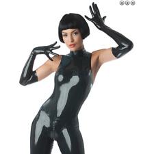 Women's PVC Opera Long Gloves Vinyl Wet Look Shiny Novelty Party Costume Gloves