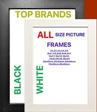 Modern Wood Photo Picture Poster Frames BLACK / WHITE