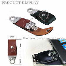 512GB leather USB memory stick flash pen drive Brown