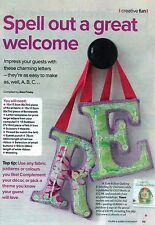 ~ Pull-Out Sewing Pattern For Lovely Statement Letters ~