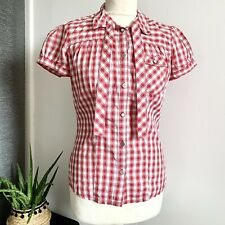 TOMMY HILFIGER CHECK SHIRT Size SMALL RED WHITE | Smart CASUAL WESTERN