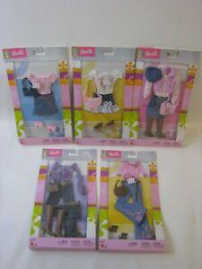 2003 Mattel Barbie 5x Outfits B8266 B8269 B8267 B8271 B8268 MOC #PC320