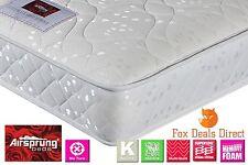 AIRSPRUNG 3FT Single Bed Sleepwalk GOLD Sprung & Memory Foam No Turn Mattress