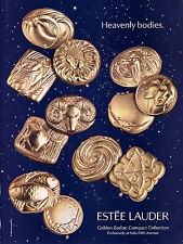 1996 Estee Golden compact zodiac collection makeup MAGAZINE AD - Heavenly bodies