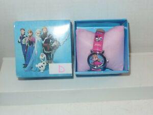 D Frozen Watch NIB ANNA with HOT PINK Band RARE HTF Girls