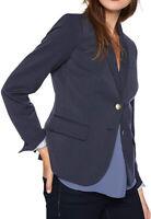 NWT J.Crew Schoolboy Blazer Navy Blue Gold Button Plus Size 22 #J4548