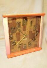 NOS Vintage Westclox Electric Wall Clock USA ~ CHOPPING BLOCK ~ Kitchen NEW wood
