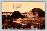 San Juan Capistrano Mission, California Vintage c1912 Postcard