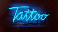 Tattoo Blue Acrylic Neon Sign Lamp Light Beer Bar With Dimmer