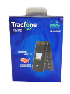 Tracfone Alcatel My Flip Prepaid Basic Cell Phone 4G No Contract New in Box