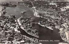 D37/ Bobcaygeon Canada Ontario Postcard Real Photo RPPC 1955 Birdseye View