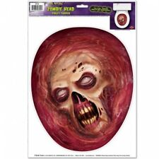 Zombie Head Toilet Topper Peel 'N Place Halloween Party Decorations Supplies