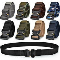 Men's Tactical Military Training Heavy Duty Nylon Quick Release Rigger's Belt