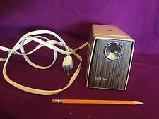 Brother Opus 990 Electric Pencil Sharpener Japan  Wood Veneer Vintage