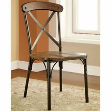"""Furniture of America Tel Industrial Bronze Dining Chairs Bronze 19 1/4""""W X 22""""D"""
