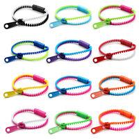 12 Pcs Neon Color Zipper Zippy Zip Zap Friendship Bracelet
