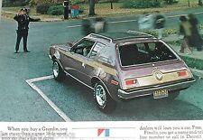 1972 AMC GREMLIN advertisement, American Motors Gremlin purple & gold