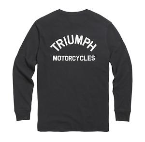 Triumph Dean Mens Long Sleeve Black Waffle Tee MTLS21012