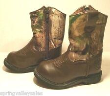 Duck Head Farm Hunt BOOTS Shoes Kids Toddler Boy Girl 5M Brown Camo Lil' Dustin