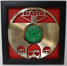 Beastie Boys Framed Laser Cut Gold Plated Vinyl Record in Shadowbox Wallart