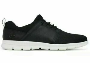 Timberland MENS A1HRX Graydon F/L Low Canvas Sneakers Casual Black Shoes USA SEL