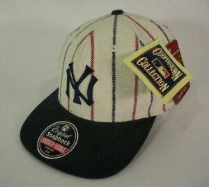 New York Yankees Hat Cap White Snapback Cooperstown Collection MLB Baseball