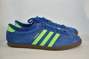 Adidas London 2010 Trainers Shoes US10 / UK9 1/2 / FR 44 Blue & Green