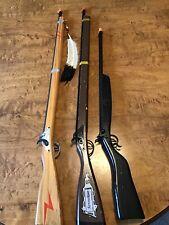 3 Vintage Parris Toy Musket Rifle Cap Guns