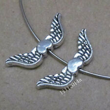 20pc Tibetan Silver Angel wings Spacer Beads Accessories Wholesale PL047