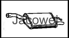 Exhaust Silencer, Muffler Rear Ford Focus I, Daw, Dbw , 1.8 16V