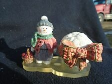 Snowman Factory Frosty Folks Trinket Box