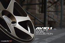 Avid1 AV38 18x9.5 +30 5x114.3 Full Matte Bronze Concave (Set of 4)