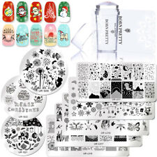 3pcs Nail Art Stamping Kits Stamp Plate Nail Art Silicone Stamper Scraper Tools