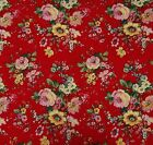 """100% Cotton Red Fabric 44"""" Wide Designer Fabrics Sewing Crafting By The Yard"""